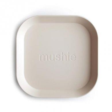 Mushie - 2 Talerzyki Square Ivory