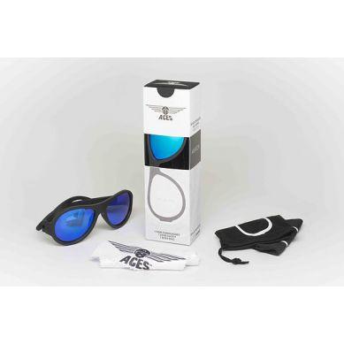 Babiators  - Aces Black Ops Black Blue Lens 7-14 lat