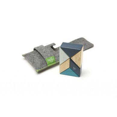 Tegu - Drewniane Klocki Magnetyczne Pocket Pouch Prism Blues
