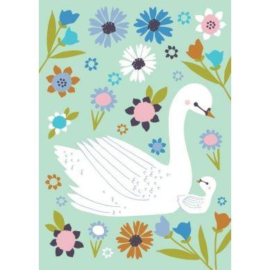 Petit Monkey - Pocztówka/Kartka na Życzenia Baby Swan Mint