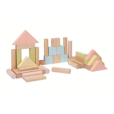Plan Toys - Klocki Drewniane 40szt Seria Pastelowa