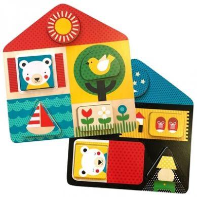 Petit Collage - Puzzle Dwustronne Domek D&N