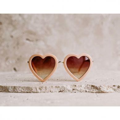 Elle Porte - Okulary Przeciwsłoneczne Classic Heart Peach 3-12 lat