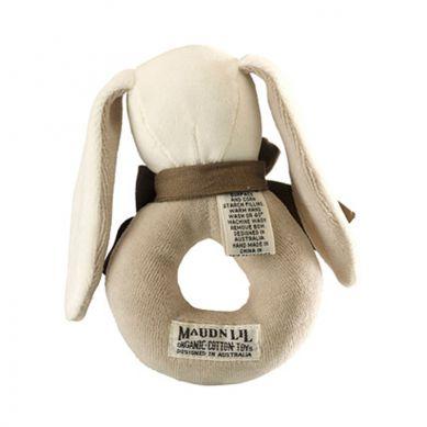 Maud'N'Lil - The Bunny Ring Rattle Grzechotka Organiczna Miękka Ears