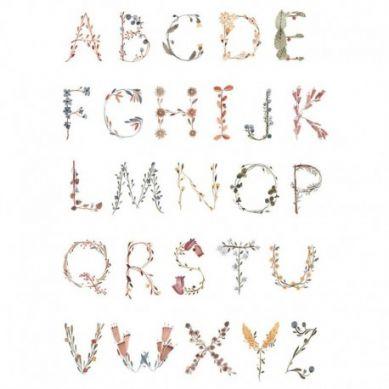 Mushie - Plakat Alphabet Medium