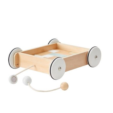 Kids Concept - Wózek Drewniany z Klockami NEO 1+