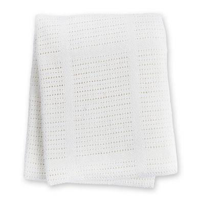 Lulujo - Bawełniany Kocyk Tkany White