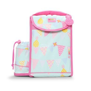 Penny Scallan - Plecak Lunchbox z Osobną Kieszonką na Picie Różowo-miętowy w Ananasy