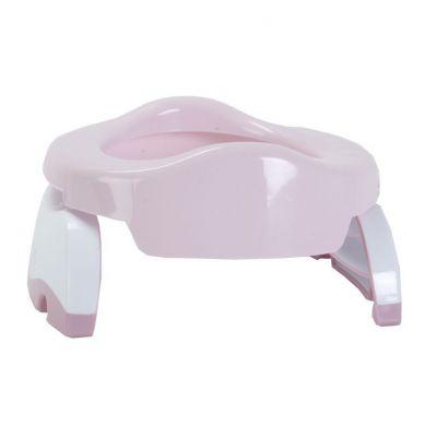 Potette Plus - Nocnik dla Dziecka i Nakładka na Toaletę Różowo-biały