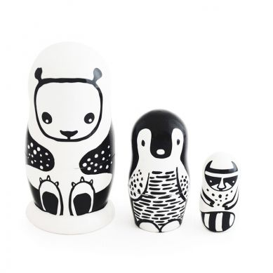 Wee Gallery - Matrioszki Black&White Animal