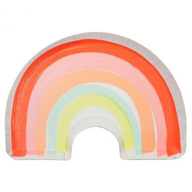 Meri Meri - Zestaw Talerzyków Urodzinowych Rainbow Plates