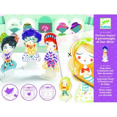 Djeco - Zestaw Kreatywny Magiczny Plastik Lily