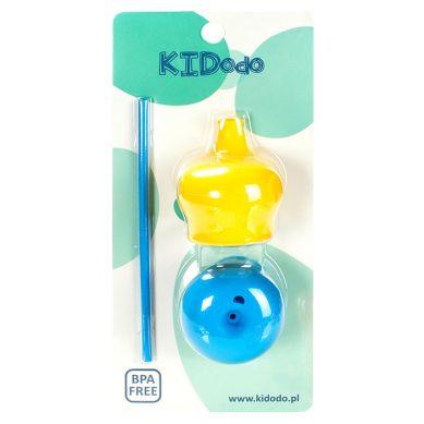 KIDodo - Zestaw Silikonowych Nakładek na Kubki Żółta + Niebieska