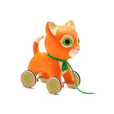 Djeco - Zabawka do Ciągnięcia Kotek Mila