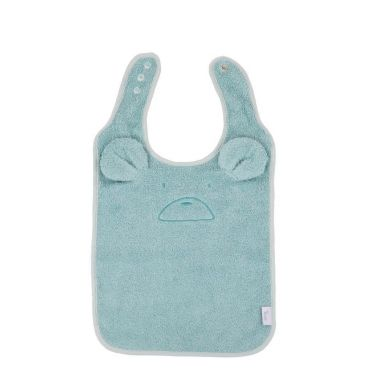 Bo Jungle - B-Śliniaczek Eco Organic Bear Blue Mint