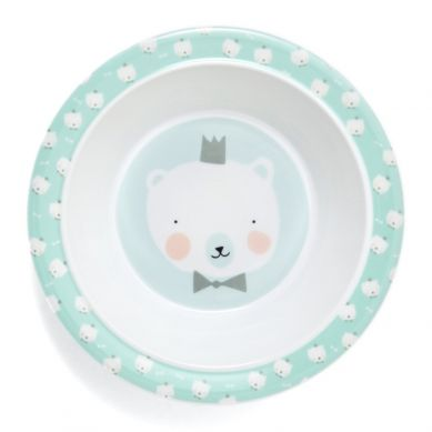 Petit Monkey - Miseczka z Melaminy Polar Bear Mint