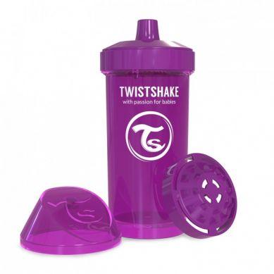 Twistshake - Kubek Niekapek z Mikserem do Owoców 360ml Fioletowy