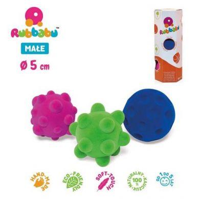 Rubbabu - Zestaw 3. Małych Sensorycznych Piłek