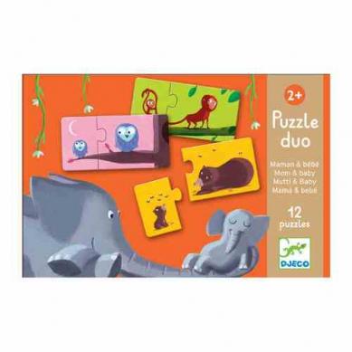 Djeco Duo Puzzle Mamy i Dzieci Zwierztątka