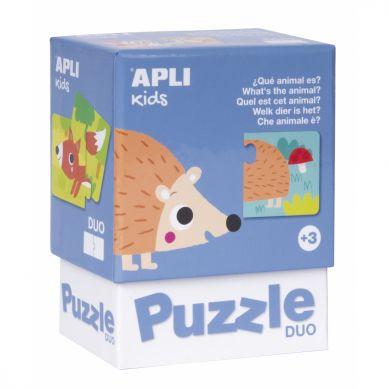 Apli Kids - Puzzle Dwuczęściowe Jakie to zwierzątka? 3+