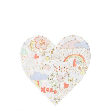 Meri Meri - Serwetki Valentine Doodle