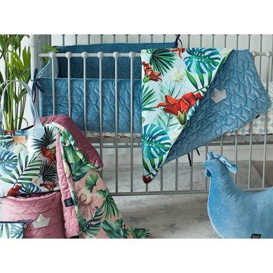 La Millou - Kocyk Średniaka 80 x100 cm Velvet Collection by Maciej Zakościelny Braveheart Lion Blue Denim