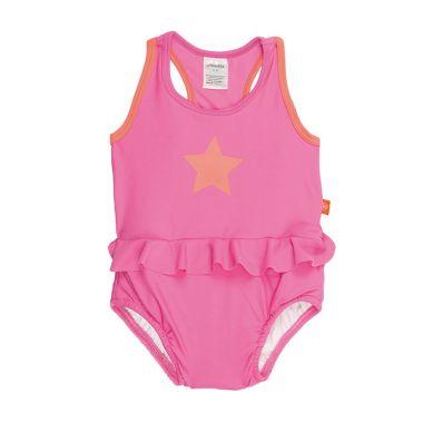 Lassig - Kostium do Pływania Jednoczęściowy z Wkładką Chłonną Light Pink UV 50+ 6m