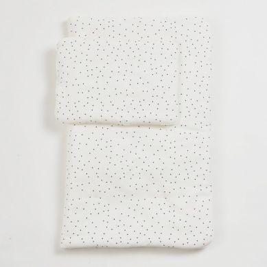 Bim Bla - Komplet Pościeli Muślinowej z Wypełnieniem Dots M 95 x 120 cm / 40 x 60 cm