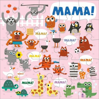 Mudpuppy - Puzzle Podłogowe Jumbo Mama 25 Elementów 2+
