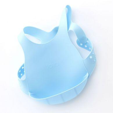 Minikoioi - Śliniak Silikonowy z Kieszonką Niebieski