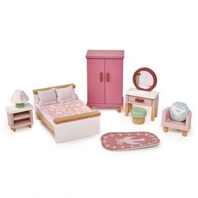 Tender Leaf Toys - Drewniane Meble do Domku dla Lalek Sypialnia 3+