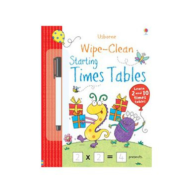 Wydawnictwo Usborne Publishing - Wipe Clean Starting Times Tables