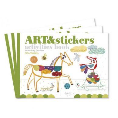 Londji - Zeszyt Kolorowanka Wyklejanka do Kreatywnej Zabawy Art&Stickers 3+