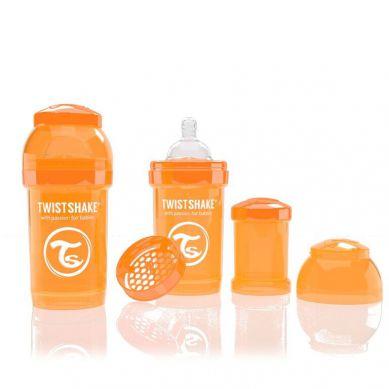 Twistshake - Butelka Anty-kolkowa 180ml Pomarańczowa