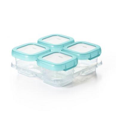 OXO - Pojemniki Szklane do Zamrażania 4 szt Aqua