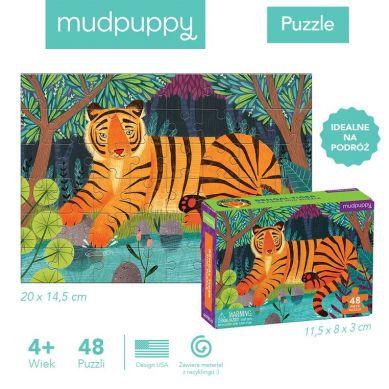 Mudpuppy - Puzzle Mini Tygrys Bengalski 48 Elementów 4+