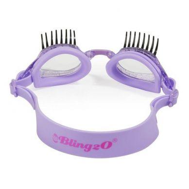 Bling2O - Okulary do Pływania Jagodowe Rzęsy 3+