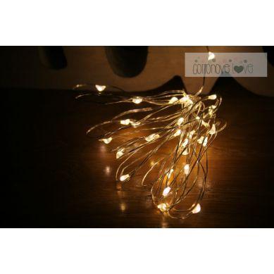 Cottonove Love - Kropelki Światła Łańuch na Baterie Ciepłe 20 LED