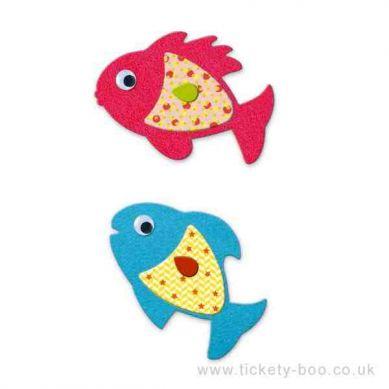 Djeco - Zestaw Naklejek Kocham Ryby 3+