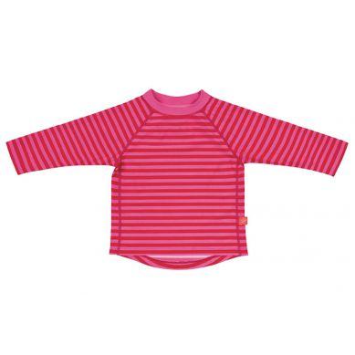 Lassig - Koszulka z Długim Rękawem do Pływania Pink Stripes UV 50+ 0-6m