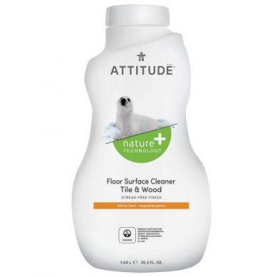 Attitude - Płyn do Mycia Podłóg (drewno i terakota) Skórka Cytrynowa Citrus Zest 1050 ml