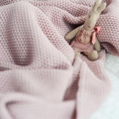 Color Stories - Duży Tkany Koc Cotton Classic Chabrowy