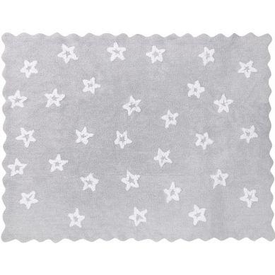 Aratextil - Dywan Bawełniany do Prania w Pralce Herbatnik Jasnoszary z Białymi Gwiazdkami 120x160cm