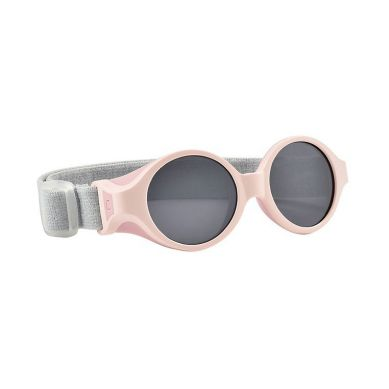 Beaba - Okulary Przeciwsłoneczne dla Dzieci z Elastyczną Opaską 0-9 Miesięcy Chalk Pink