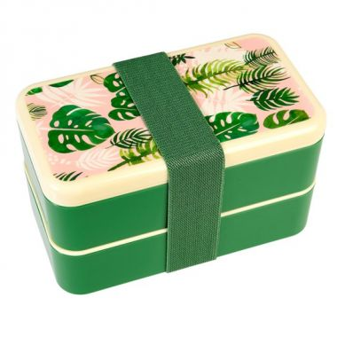 Rex - Dwupoziomowy Lunchbox ze Sztućcami Tropical Palm