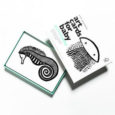 Wee Gallery - Zestaw czarno-białych Kart dla Dzieci Sea