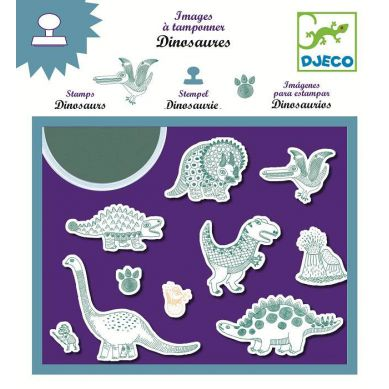 Djeco Zestaw ze Stempelkami Dinozaury