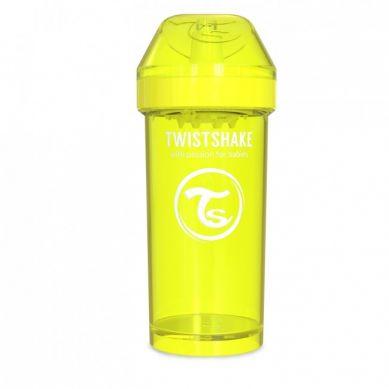 Twistshake - Kubek Niekapek z Mikserem do Owoców 360ml Żółty
