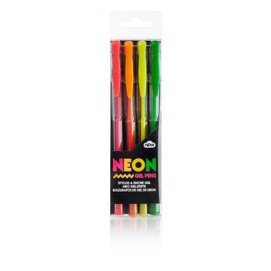 NPW ROW - Zestaw 4 Neonowych Długopisów