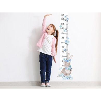 Pastelowelove - Naklejka na Ścianę Miarka Królik Niebieski